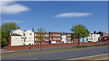 SO9198 : View north-east across Ring Road St Johns in Wolverhampton by Roger  Kidd
