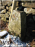 NZ5812 : Old Boundary Marker by Mike Rayner