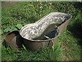 SP3365 : Cast-iron bath, St Mary's Allotments, Leamington by Robin Stott