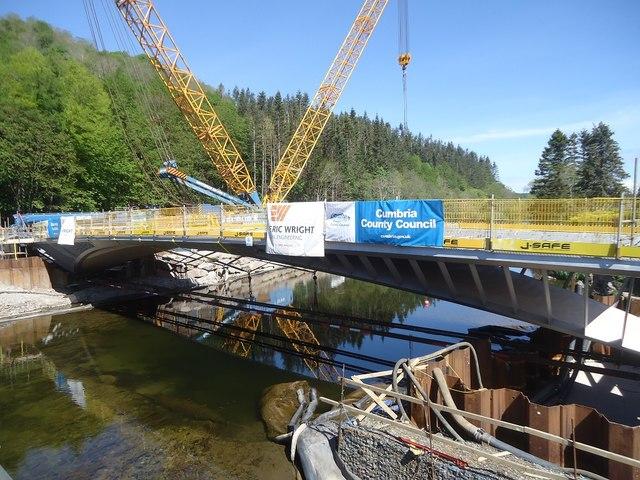 The bridge in position