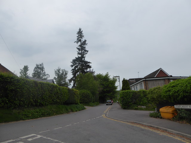 Looking south-westwards from Courts Mount Road into Courts Hill Road