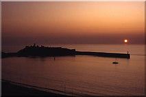 SC2484 : Sunset - St Patrick's Isle, Peel by Colin Park