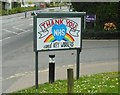 NS5573 : Thank you NHS and key workers by Richard Sutcliffe