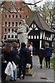 TQ2981 : Statue of King Charles !!, Soho Square by N Chadwick