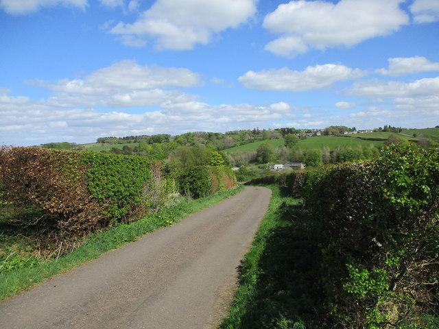 Minor road above Netherside