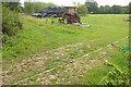ST3604 : Electric fence, Forde Grange Farm by Derek Harper