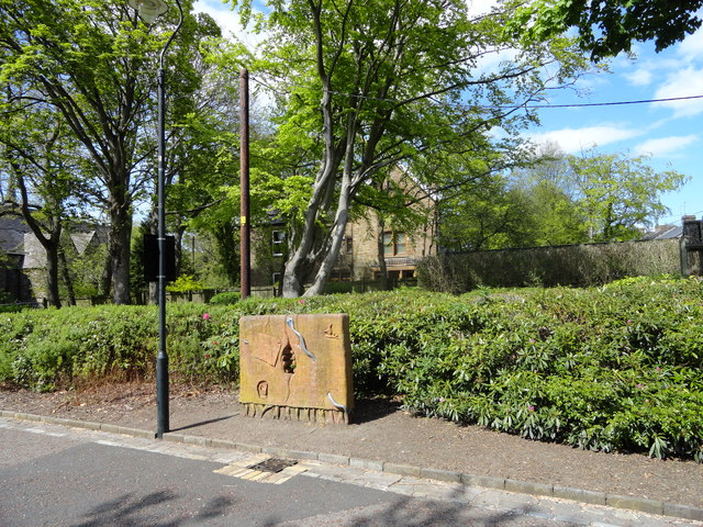 Plaque in Blackhill Park