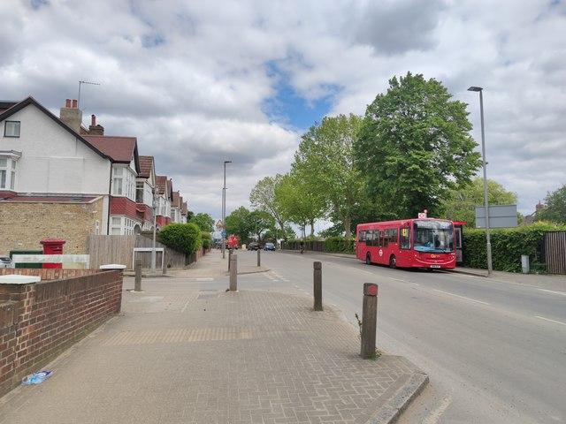 Bus on Burntwood Lane