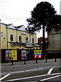 ST3187 : Adverts on a Kingsway fence, Newport by Jaggery