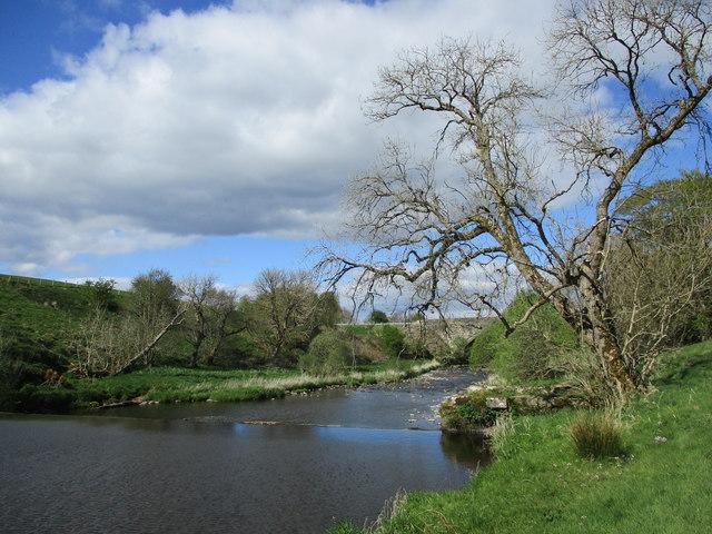 Weir above Craig Bridge