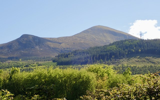 Slieve Donard and its acolyte, Thomas's Mountain, from Tipperary Lane