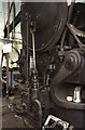 ST5772 : Underfall Yard - detail of steam powered punching and shearing machine by Chris Allen