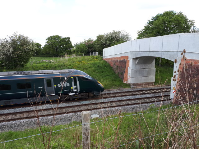 Train going under Davenport Bridge