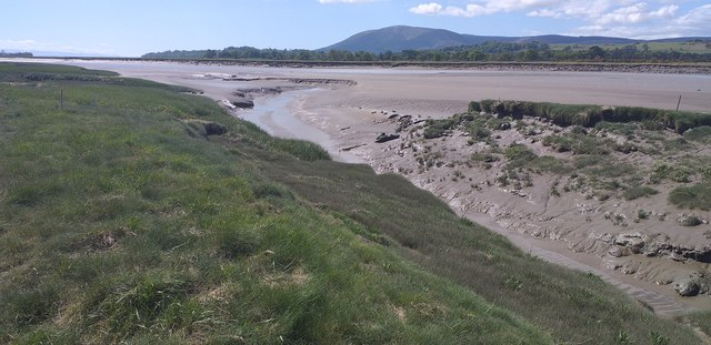 Mud flats on the River Nith