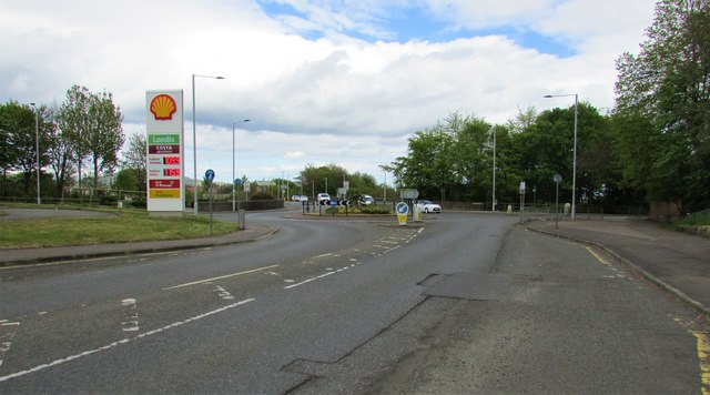 Roundabout at bottom of Wellesley Road, Methil