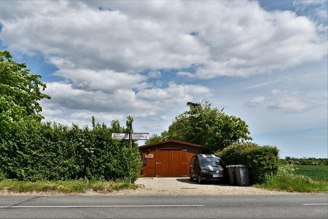 Dennington: B1116 from Severalls Lane