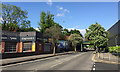 SP2965 : Container freight speeds through Warwick in lockdown by Robin Stott