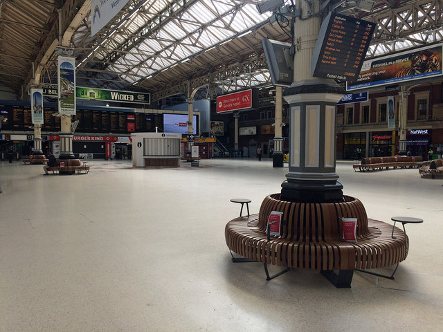 Victoria Station in the time of Covid-19