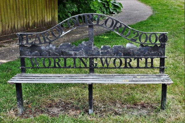 Worlingworth, Shop  Street: Millennium Seat