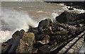 SX9364 : Breaking waves, Anstey's Cove by Derek Harper