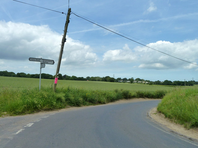 Road junction between Coldred  and Shepherdswell
