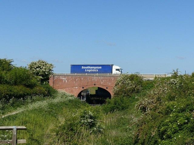Lorry on the bridge