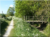 SK6636 : Farm bridge across the Grantham Canal near Stragglethorpe by Alan Murray-Rust