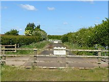 SK6635 : Section of old road at Stragglethorpe interchange by Alan Murray-Rust