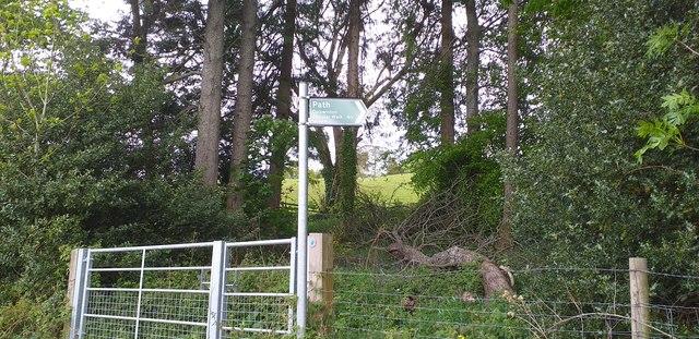 Start of Dalswinton Circular Walk