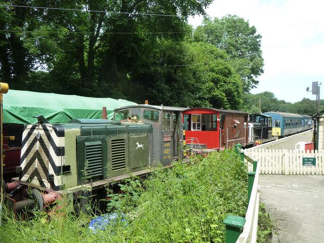 Stock at Shepherdswell, East Kent Railway
