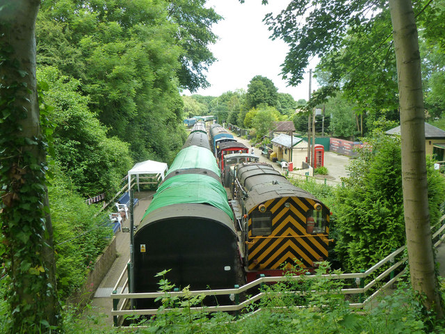 Stock at Shepherdswell, East Kent Railway