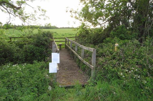 Footpath towards Thurleigh