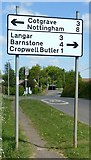 SK6735 : Entrance to Cropwell; Bishop by Alan Murray-Rust
