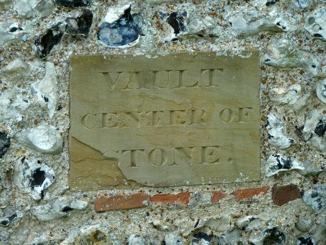 Vault marker stone, Tilmanstone church