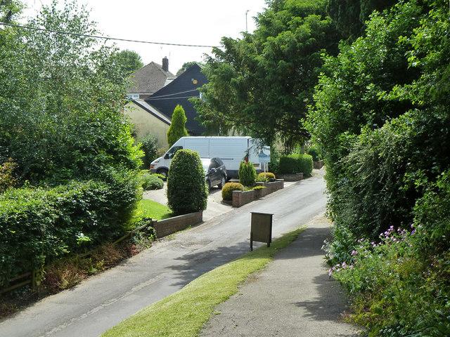 Church path down to Upper Street, Tilmanstone