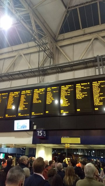 More cancelled trains - rush hour at Waterloo Station