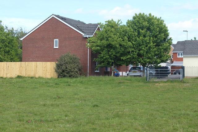 Field next to housing estate, Oakdale