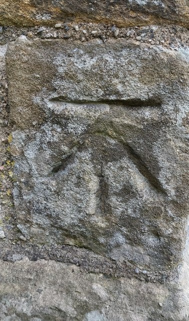 Benchmark on NW Buttress on St. Lambert's Church Tower