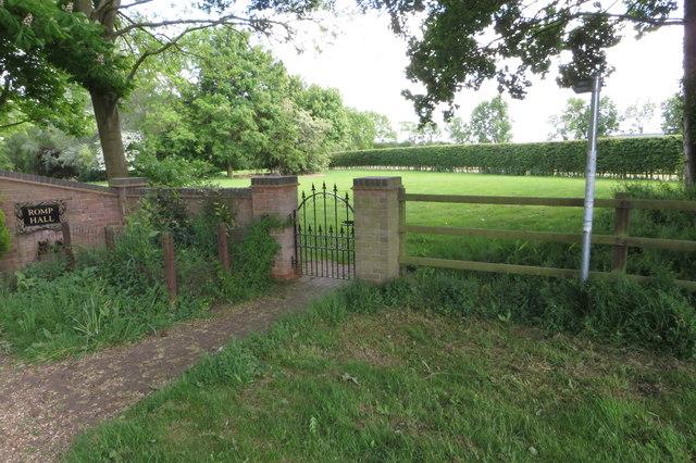 Footpath through Romp Hall grounds