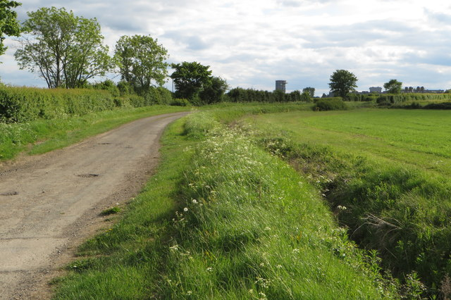Cycle route to the Thurleigh Road