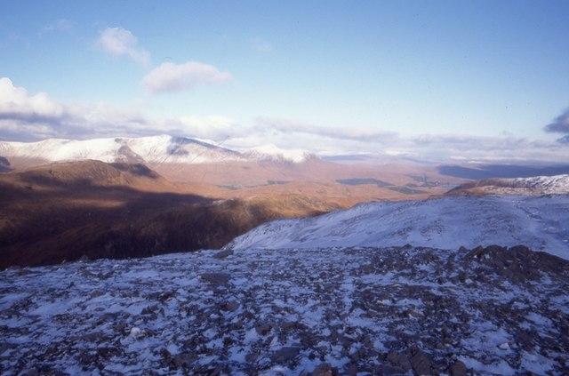 Near the summit, Beinn Mhic Mhonaidh