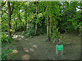 SE2539 : Entrance to Ireland Wood from Hospital Lane by Stephen Craven