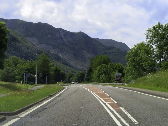 The A82 by Ballachulish