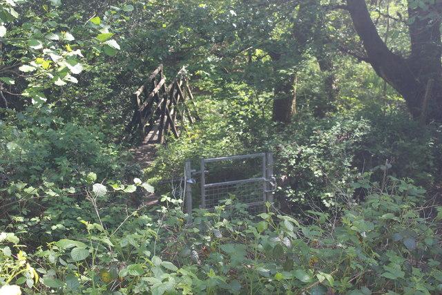 Footbridge over Nant Philkins