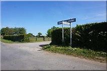 SE7975 : Road sign on Intake Lane by Ian S