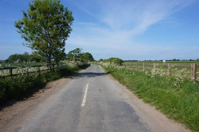 Ryton Rigg Road towards Great Habton