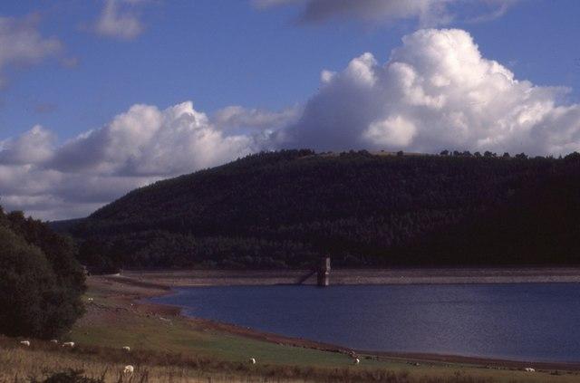 Talybont Reservoir and dam