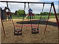 SP2864 : Forbidden toddler swings, St Nicholas Park, Warwick in lockdown by Robin Stott