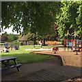 SP2864 : Sandplay for grownups, St Nicholas Park, Warwick in lockdown by Robin Stott