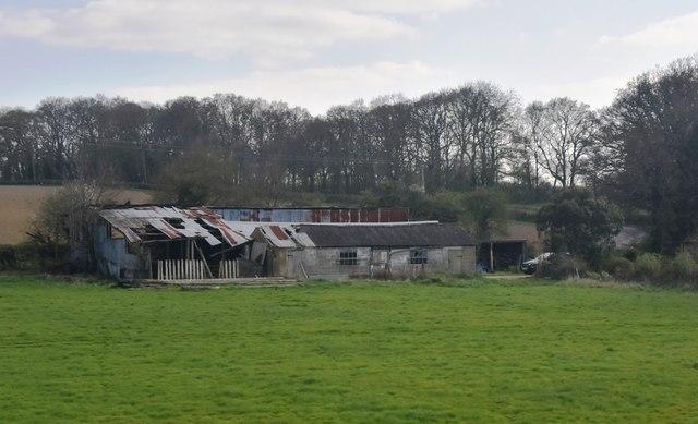 Rather derelict looking, Pumpfields